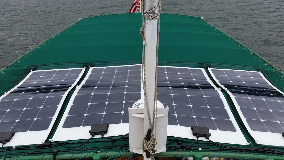 Marine Solar Panel Installation Pictures