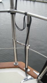 rail mounting brackets on sailboat