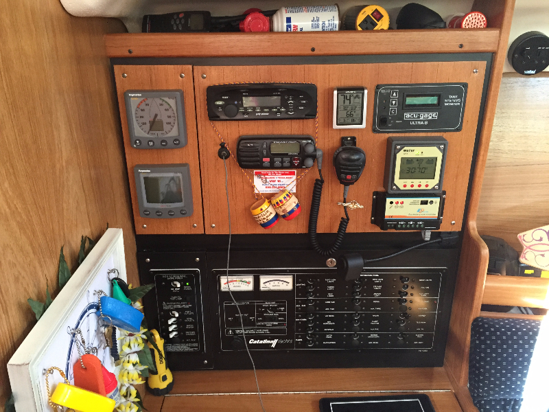 CMP Dual Output Solar Charge Controller with Remote Display in boat cabin