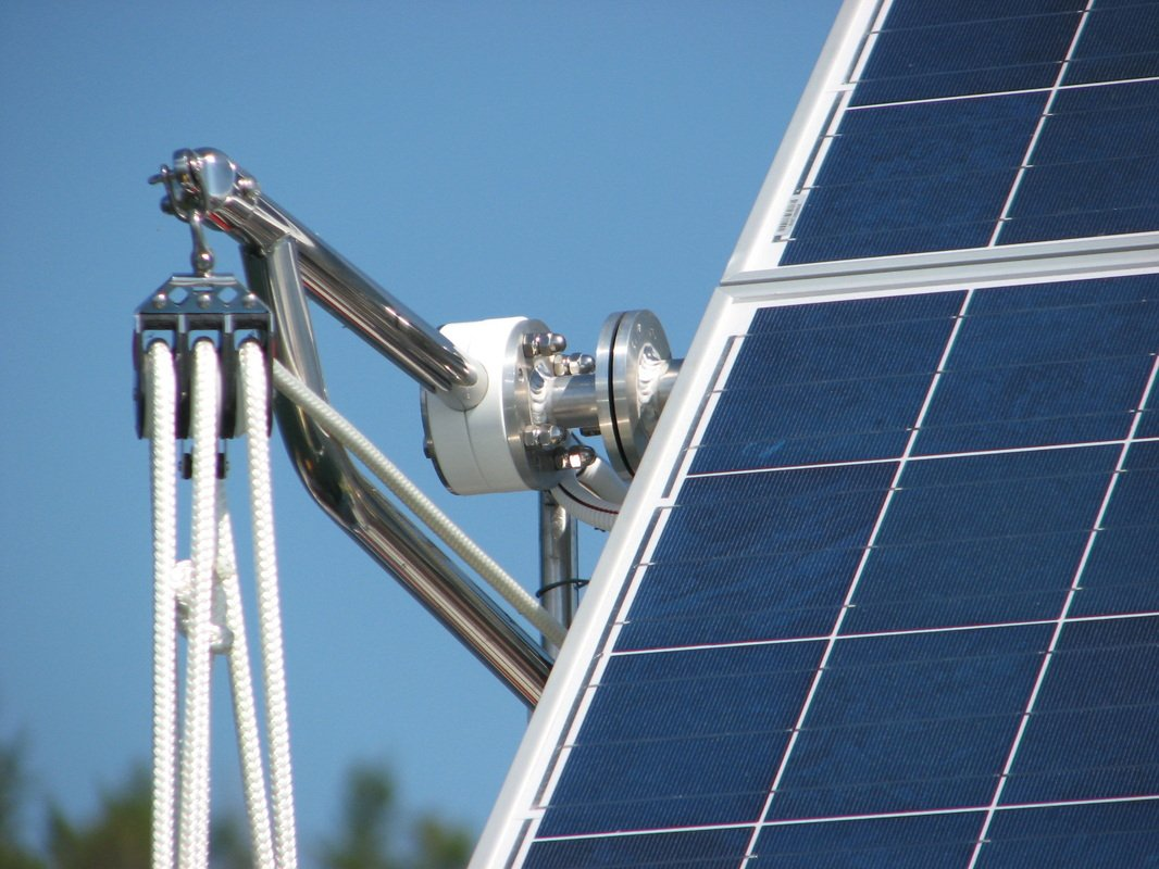 solar panel tilt mechanism to angle panels to hit sun for maximum performance