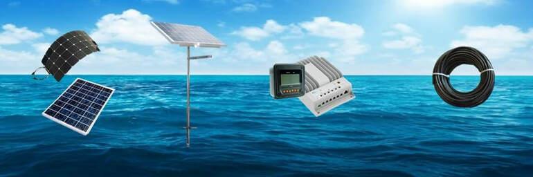 Kit de système solaire: panneaux solaires, système de montage, contrôleur, fil et connecteurs
