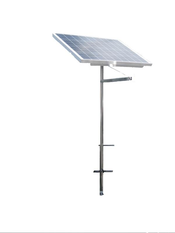 140 Watt Marine Solar Panel Tilt Mount Pole Dual